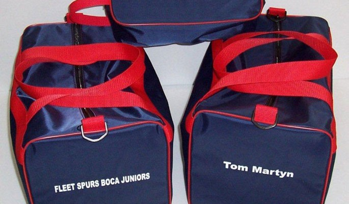 barnded club bags