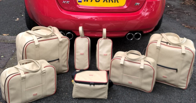 jaguar XKR bespoke luggage