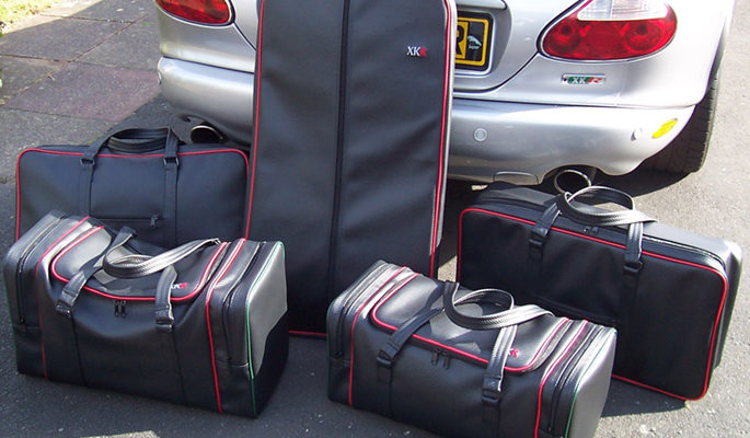 jaguar XKR bespoke luggage