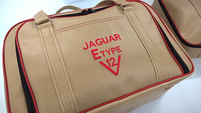 jaguar E-type convertible luggage