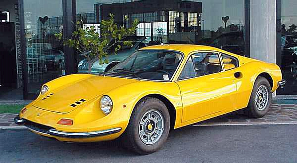 1972 Ferrari Dino 246 GT-yellow-¾fVl=mx=